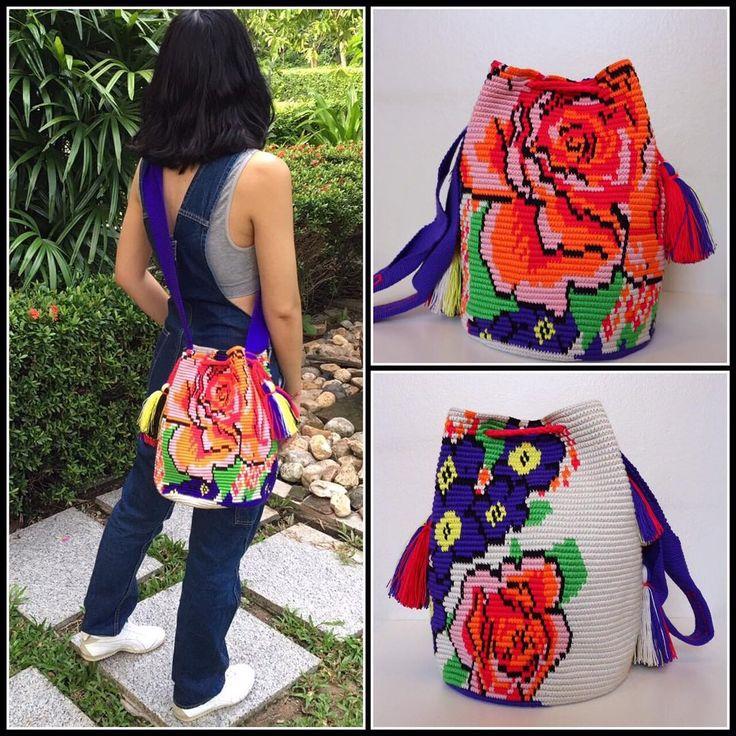 "36 Likes, 1 Comments - Wayuustylebkk (@wayuustylebkk) on Instagram: """"Chorrera bag"" Special design ใบนี้ด้านหน้า และหลังลายต่างกันนะคะ สวยทุกด้าน  ถักโดยชนเผ่า…"""