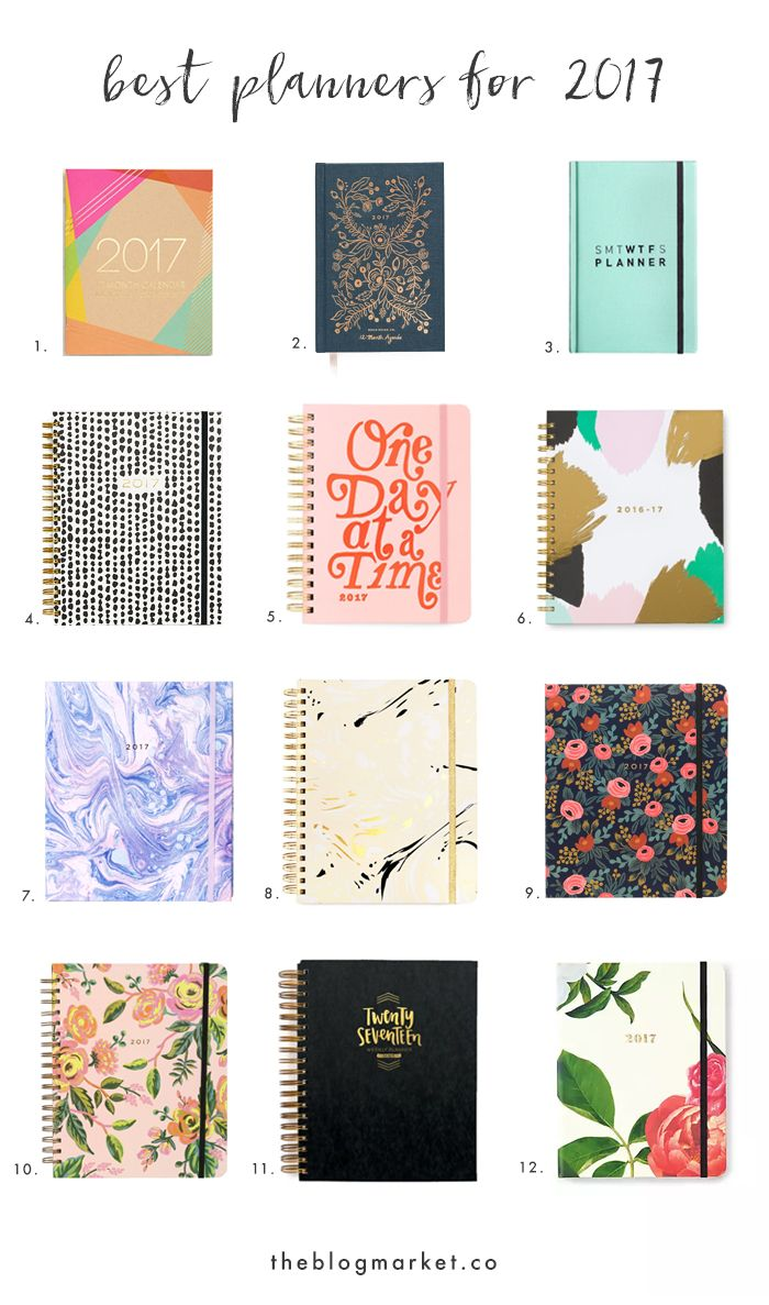 Can  you believe it's already time for a new planner roundup?! Where is this year going? I started seeing 2017 planners last month and was super weirded out, but