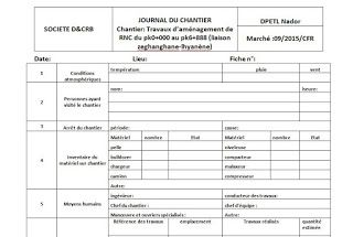 Rapport Journalier De Chantier En Word Word Doc Smart Building Big Data