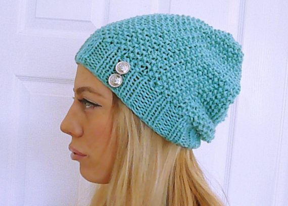 Hey, I found this really awesome Etsy listing at https://www.etsy.com/listing/177189713/knit-beanie-with-buttons-light-green-hat