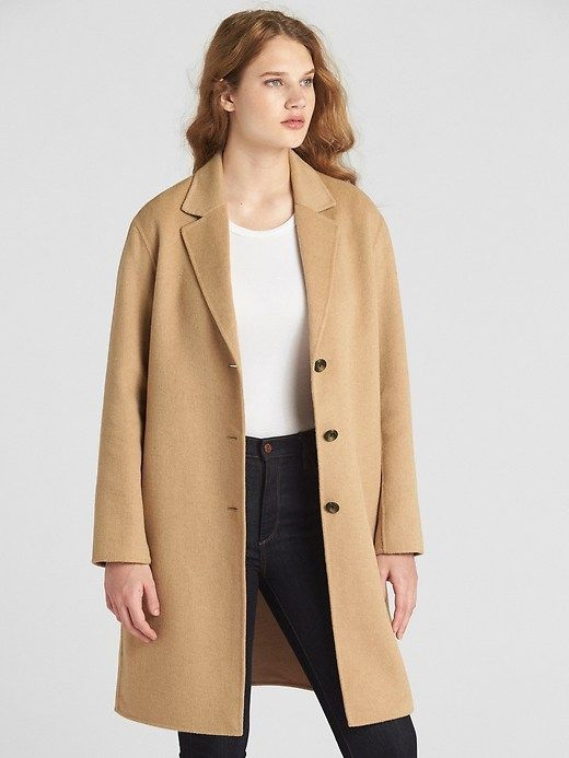 076285c7ffa7 Gap Womens Wool-Blend Coat Camel | Products in 2019 | Camel coat ...