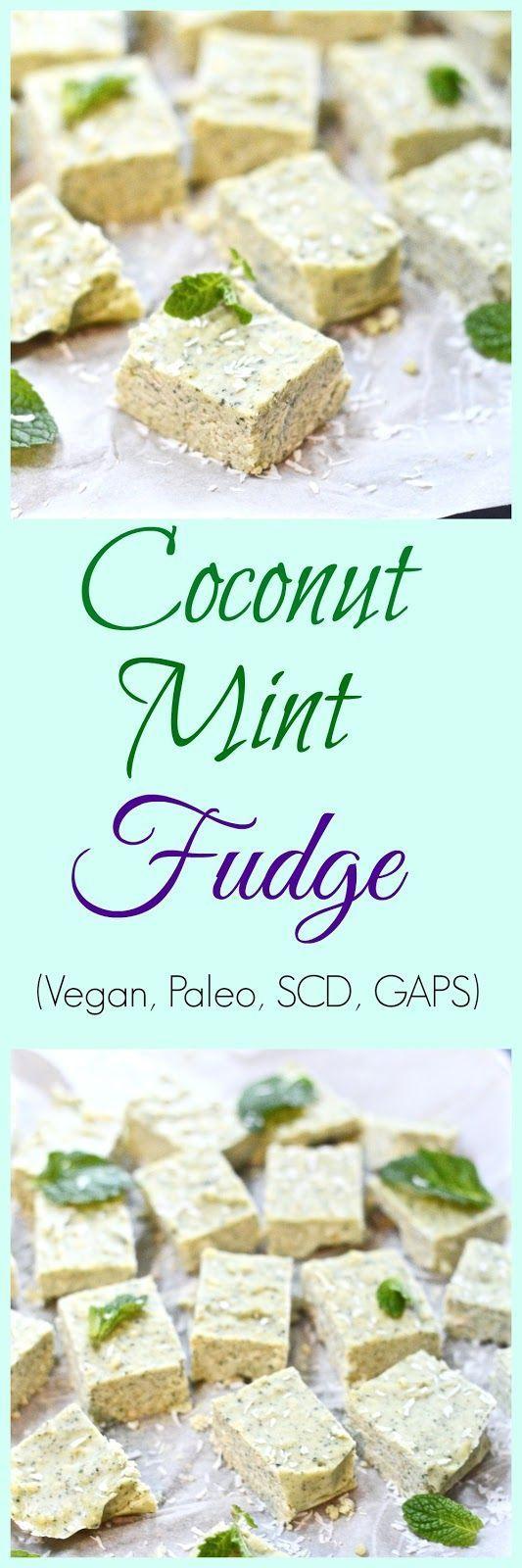 Pure and Simple Nourishment : Coconut Mint Fudge (Paleo, Vegan, SCD, GAPS)