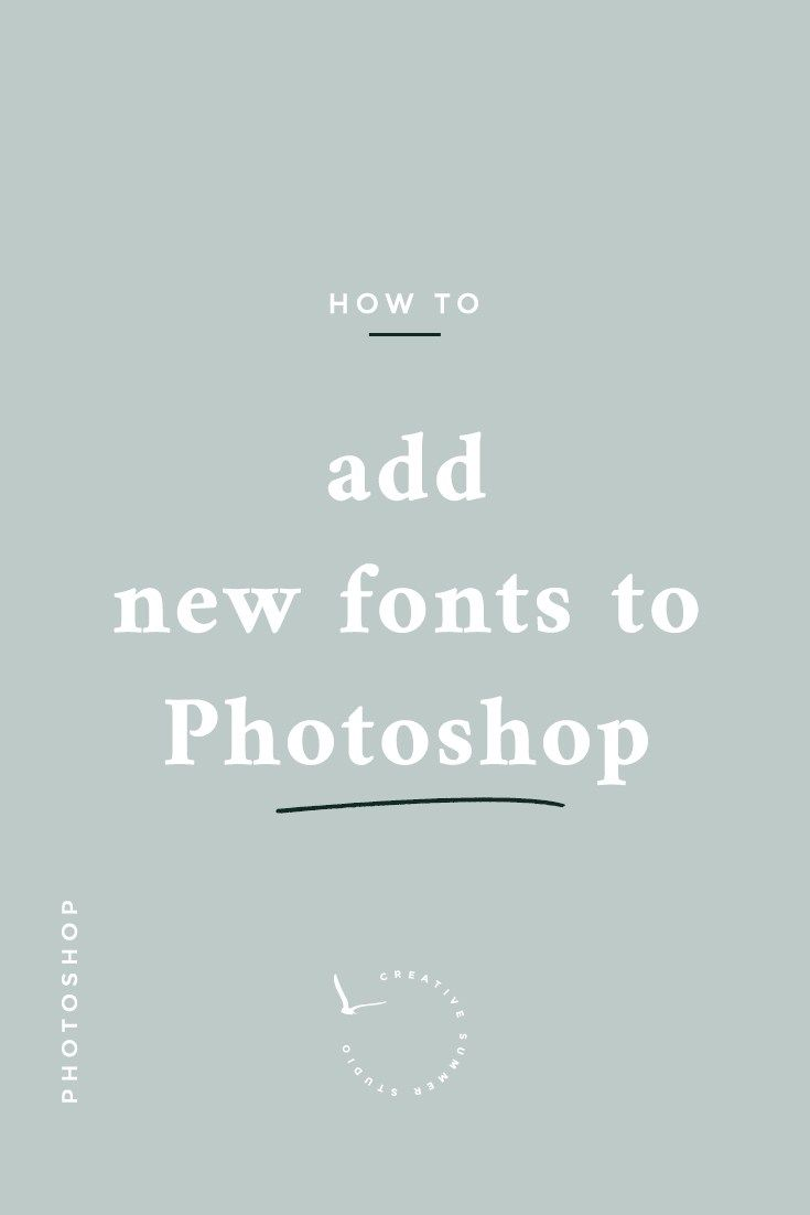 Introducing a new blog series for creative bloggers: Photoshop tutorials. Learn how to simply add new fonts to Photoshop and where you can get free fonts from in less than 3 minutes. typography fonts graphic design