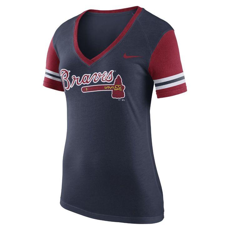 Nike (MLB Braves) Women's Short Sleeve Top Size