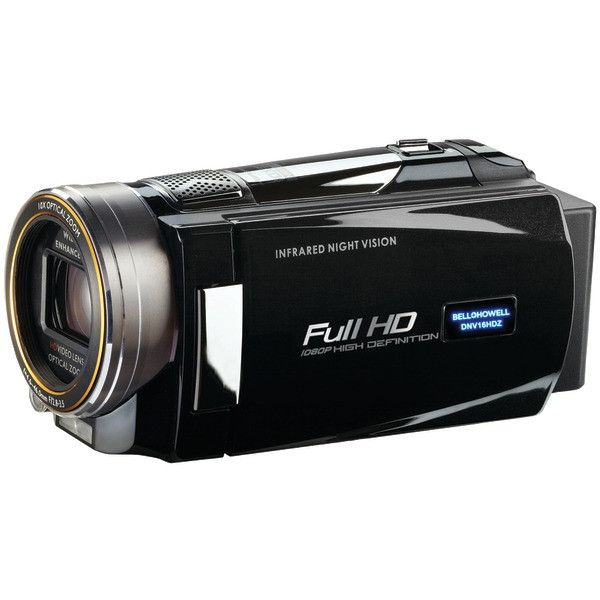 16.0 Megapixel 1080p Rogue DNV16HDZ Night-Vision Digital Video Camera (Black) - BELL+HOWELL - DNV16HDZ-BK