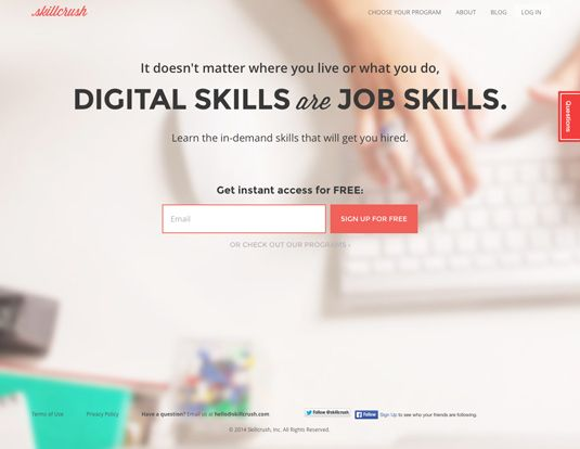 Skillcrush.. Web Design and WordPress. Learn to create digital worlds for companies who are willing to pay you well for it.