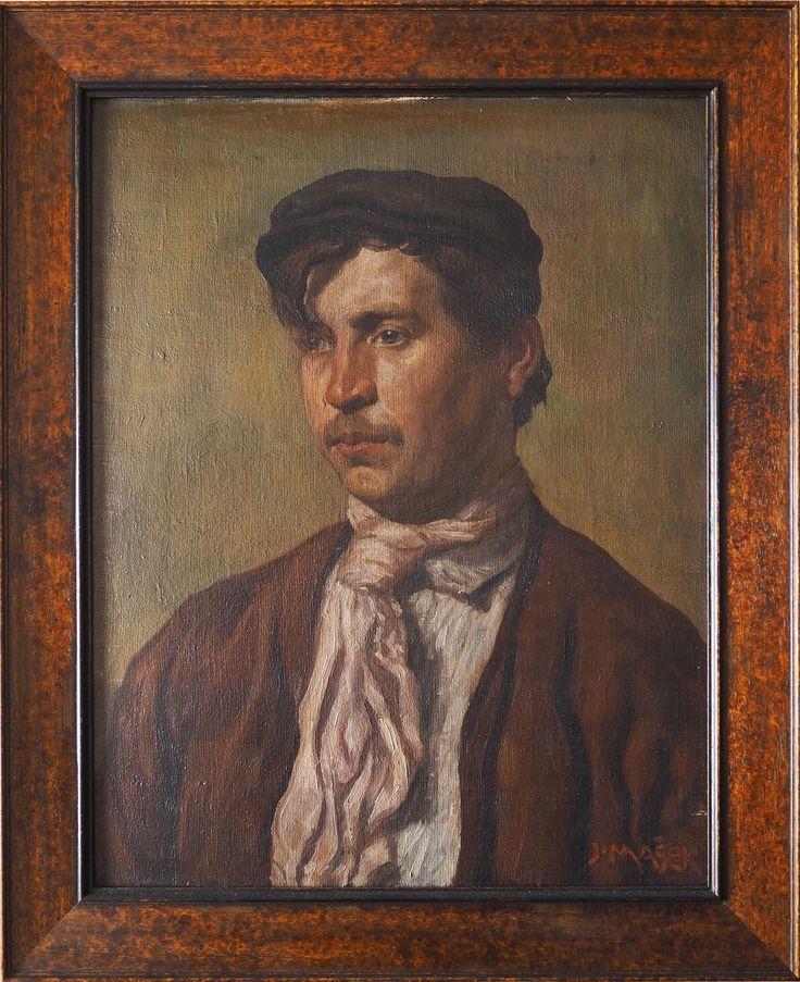 Jaroslav Mašek: Portrét sedláka, počátek 20. století