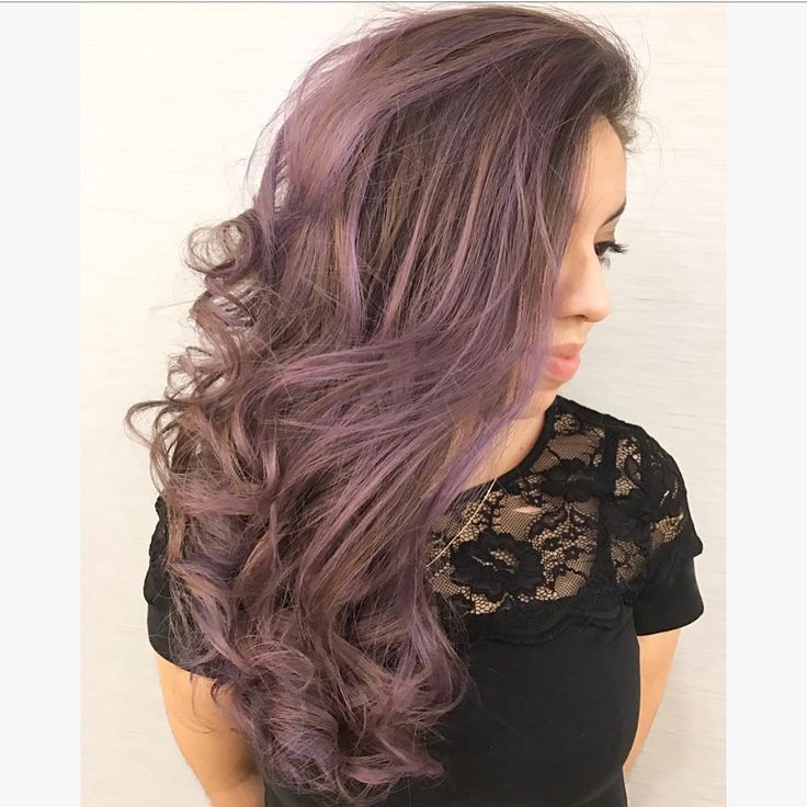 smokey lavendar hair made with Redken City Beats (color by