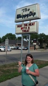 """""""When I think of Iowa summer treats, I automatically think of traveling to The Whippy Dip in Decorah, Iowa.""""  - Val of Corn, Beans, Pigs and Kids."""