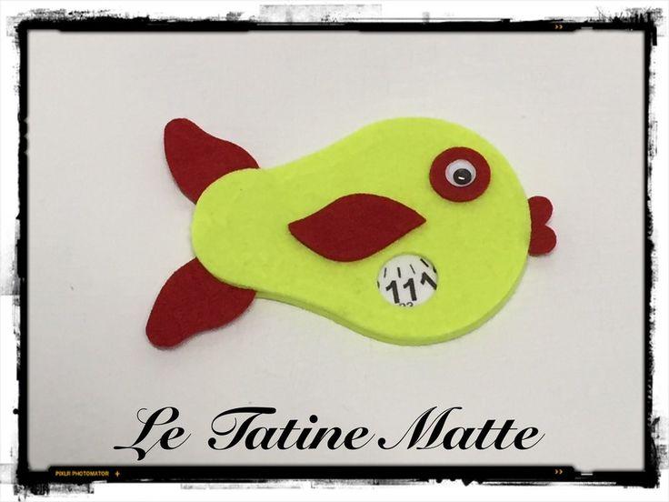 Pesce Disco Orario giallo fluo-rosso, by Le Tatine Matte, 5,00 € su misshobby.com