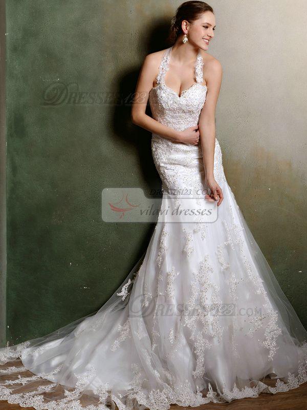 VILAVI Kleider - US $ 393,69: 100% Sexy Meerjungfrau Halfter Gericht Zug Spitze Brautkleider, freies Verschiffen Preis Maßgeschneiderte http://de.dresses123.com/sexy-mermaid-halter-court-train-lace-wedding-dresses-p-1718.html