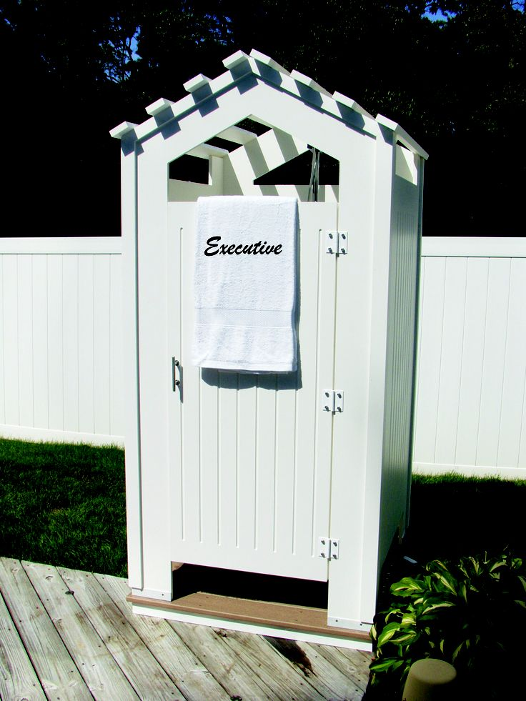 """SHOWEROUTDOOR.COM OUTDOOR SHOWERS MADE WITH 3/4"""" PVC BOARD & TREX BOARD 631-234-1090"""