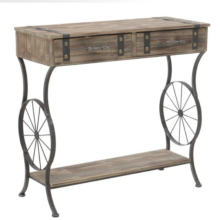 Metallic Console - Drawers - Consoles - FURNITURE - inart