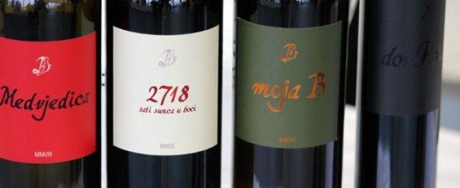 amazing Plavac Mali and Bogdanusa lineup from Dubokovic winery on Hvar