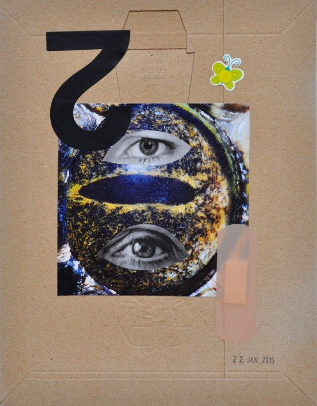 Eyes For An Eye | Collage on Cardboard, 19,6 x 25,3cm, 2015 Unique € 260,– excl. shipping | TO BUY: send an email to wegerer.roland@gmx.at The work comes with its certificate of authenticity signed by the artist.