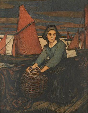 Femme de l'île de Sein by Walter Sauer