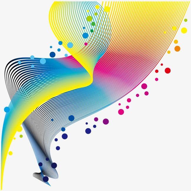 Vector de curvas e Pontos decorativos, A Curva De, Padrão Decorativo, Cor Padrão DecorativoPNG e Vector