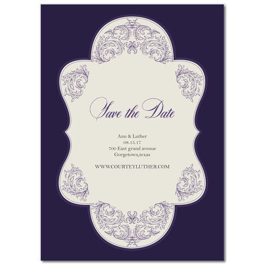 #save the dates  Dreamy Purple Save The  Dates