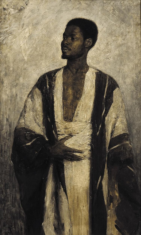 Friedrich Heinrich Louis- Portrait of an African Man  (German 1858–1925)