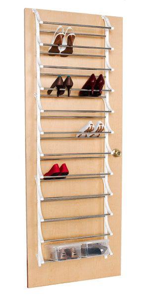 How To Use Your Closet Door To Store Shoes: 36 Pair Over The Door Shoe Rack