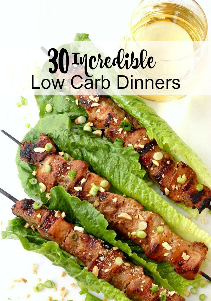Everyone will find an Incredible Low Carb Dinner they love on this list!