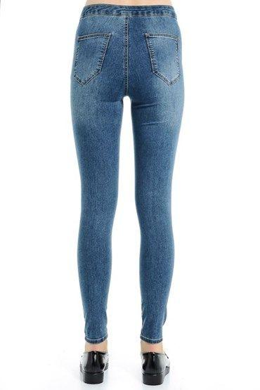 Yüksek Bel Skinny Denim Pantolon 15YOX-ALJEG15Y