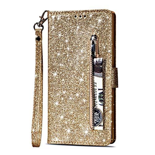 4e0278b478f5 Yobby Glitter Wallet Case for Samsung Galaxy S8 Plus, Samsung Galaxy ...