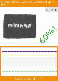 Erima Bandeau éponge Poignet Lot de 2 Noir (Sports Apparel). Réduction de 60%! Prix actuel 2,86 €, l'ancien prix était de 7,16 €. https://www.adquisitio.fr/erima/bandeau-%C3%A9ponge-poignet-0