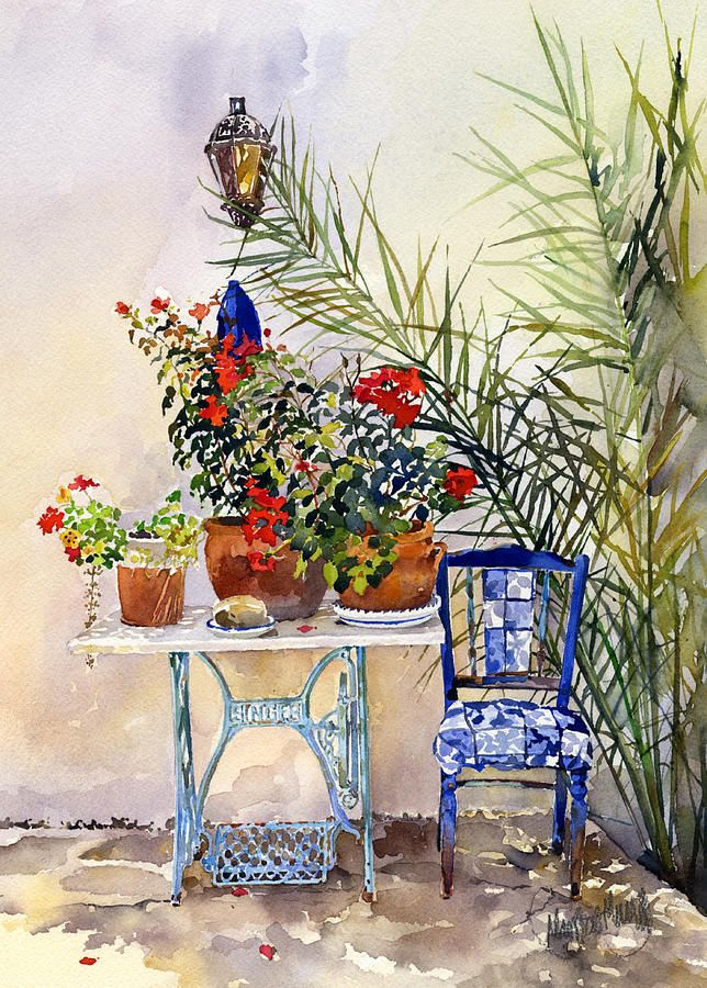 Painting Painting - Rincon De Jardin by Margaret Merry