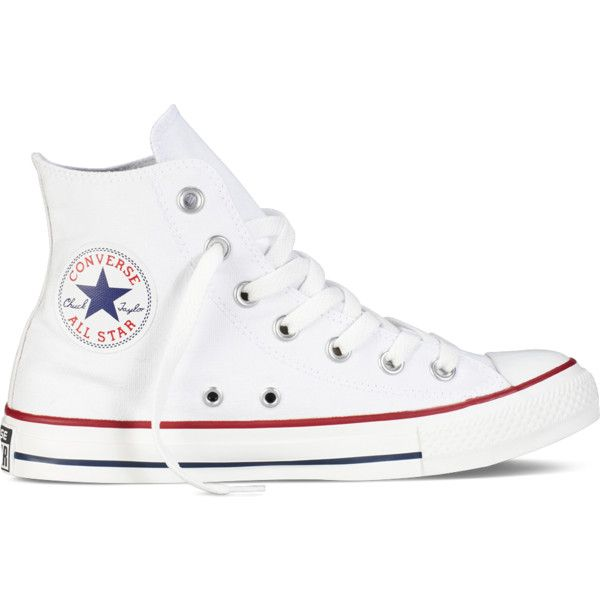 converse high tops white. converse chuck taylor all star classic colors \u2013 white sneakers ($55) ❤ liked on · shoeshigh top high tops a