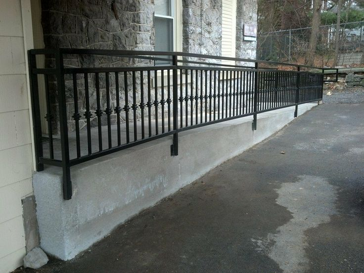 Custom Made Wrought Iron Ada Ramp Railing Deck Stair