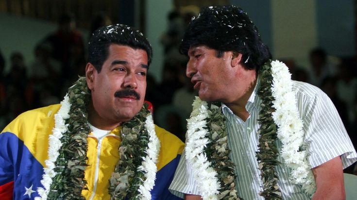 """""""The plan of the empire is to overthrow the constitutional president elected by Venezuela ... as a warning to anti-imperialist governments,"""" Morales said. , Bolivarian revolution, Evo Morales, Henrique Capriles, Maria Corina Machado, Nicolas Maduro, Oil, opposition protests, Organization of American States, PDVSA, privatization, Venezuela,"""