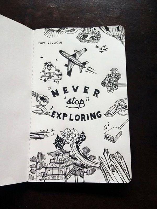 40 Between The Gaps Notebook Art Inspirations For …