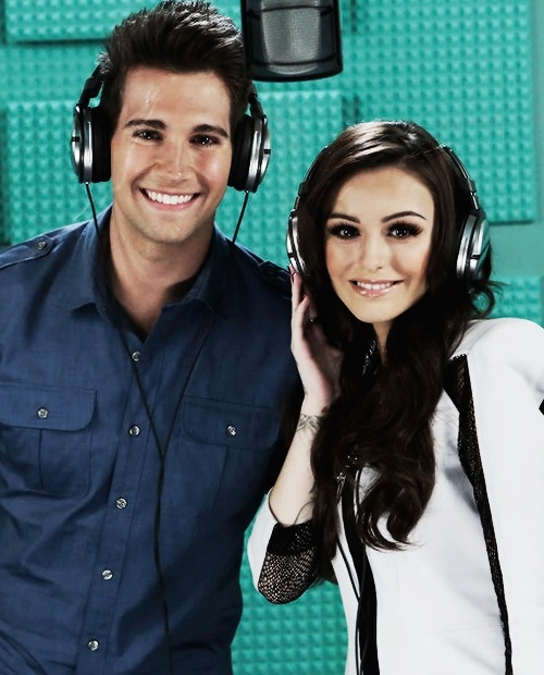 James Maslow and Cher Lloyd. (: