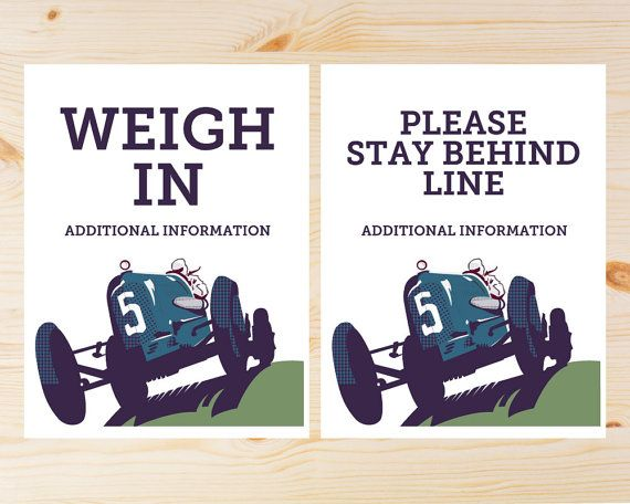 Editable Derby Event Signage   INSTANT DOWNLOAD by CuteandUseful