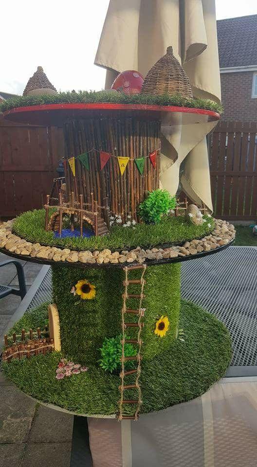 Spool fairy house