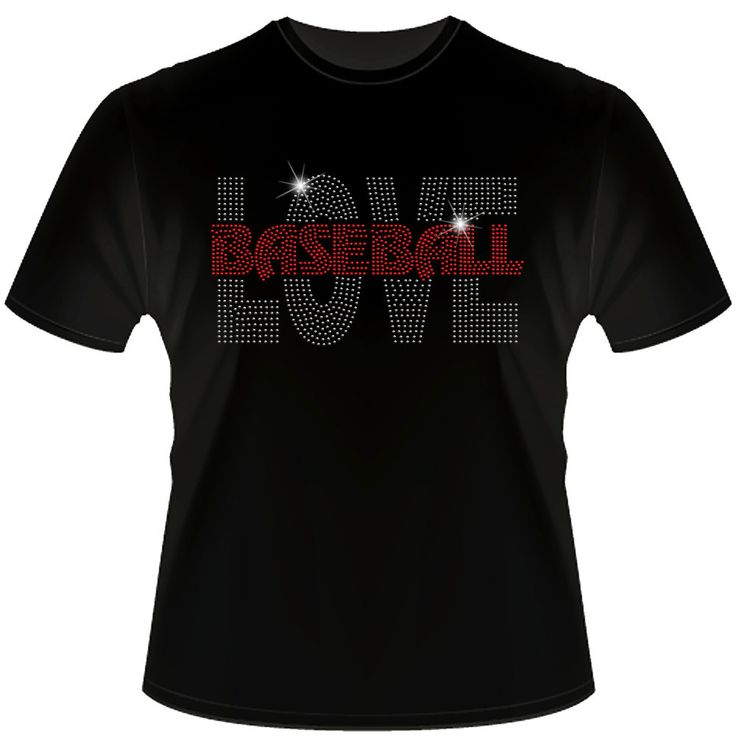 Baseball LOVE Spangle Bling shirt by Daddy Rabbit Graphics on Etsy