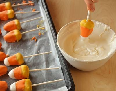 Candy Corn Cake Pops