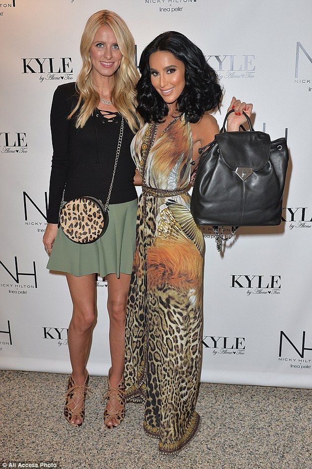 Bronzed beauty: Former Shahs of Sunset cast member, Lilly Ghalichi stopped by the handbag launch to show support for her friend Nicky