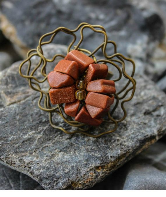 Handmade copper ring/Unique  Ring/Adjustable Ring/Chic Ring/Unique and Stylish/Greek Style/Beautiful/Beaded Ring/Statement Jewelry/Wire Work