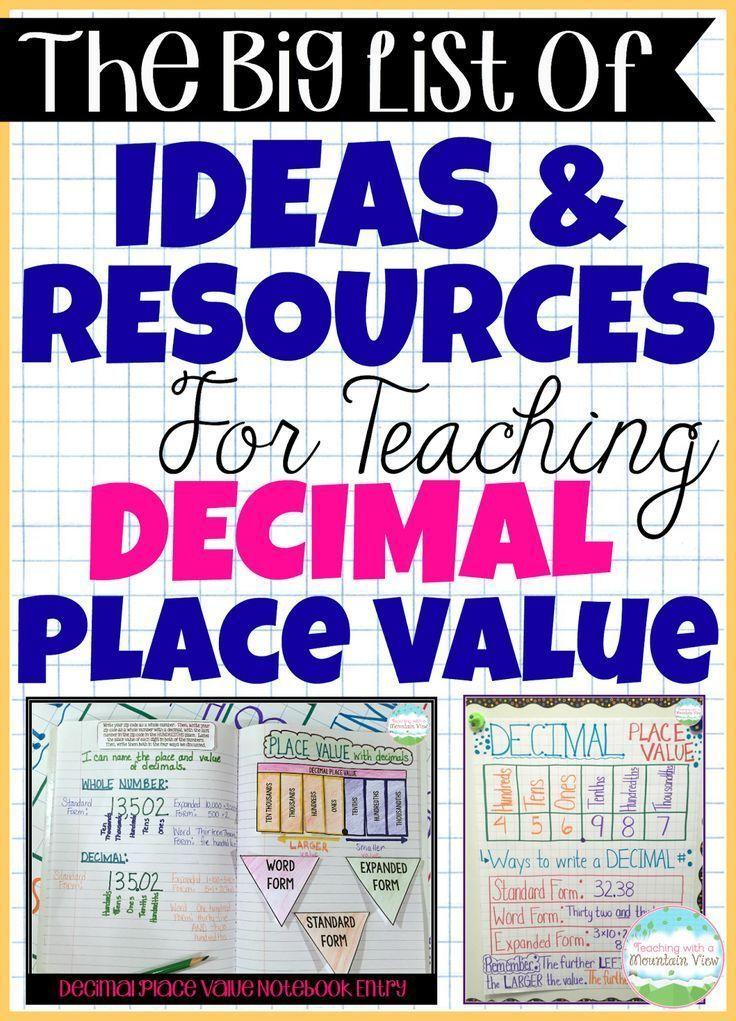 Best 25+ Decimal place values ideas on Pinterest Decimal value - decimal place value chart