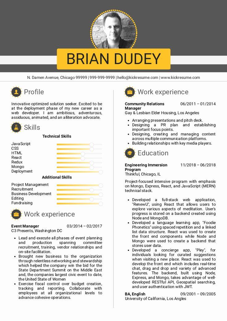 Full Stack Engineer Resume Inspirational Resume Examples