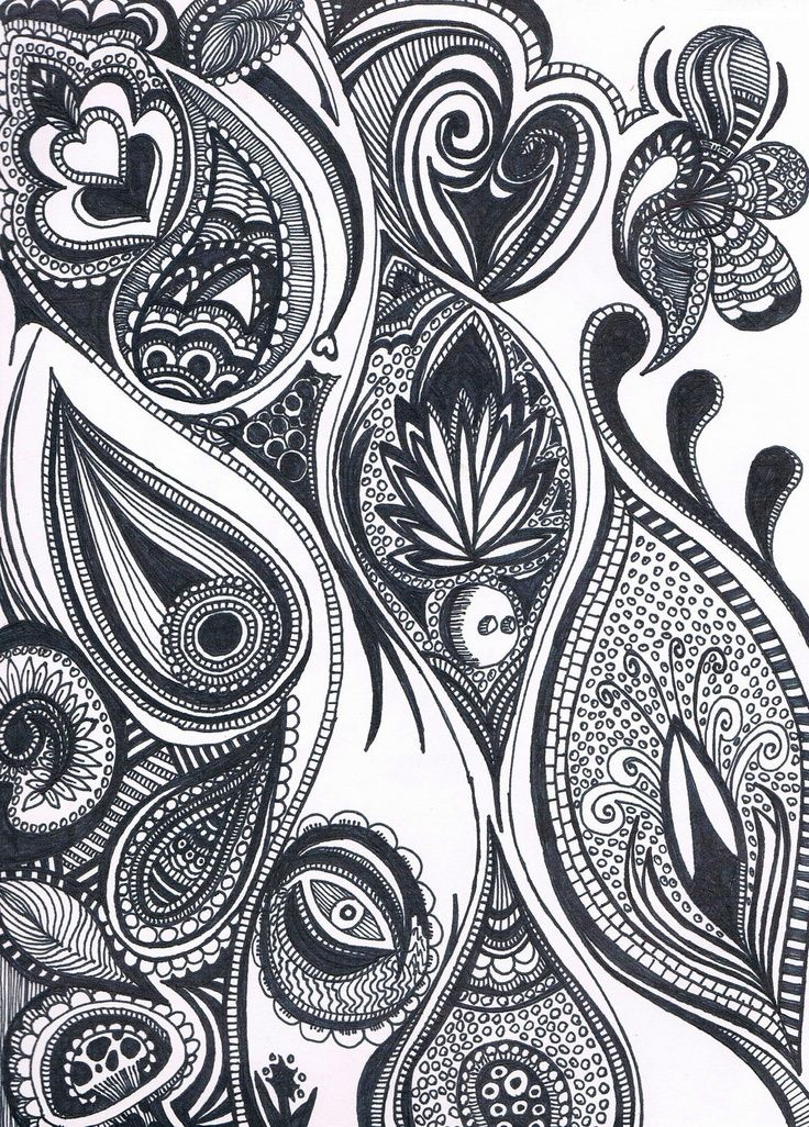 Zentangle paisley feather --- I love the little spotted cupcake :)