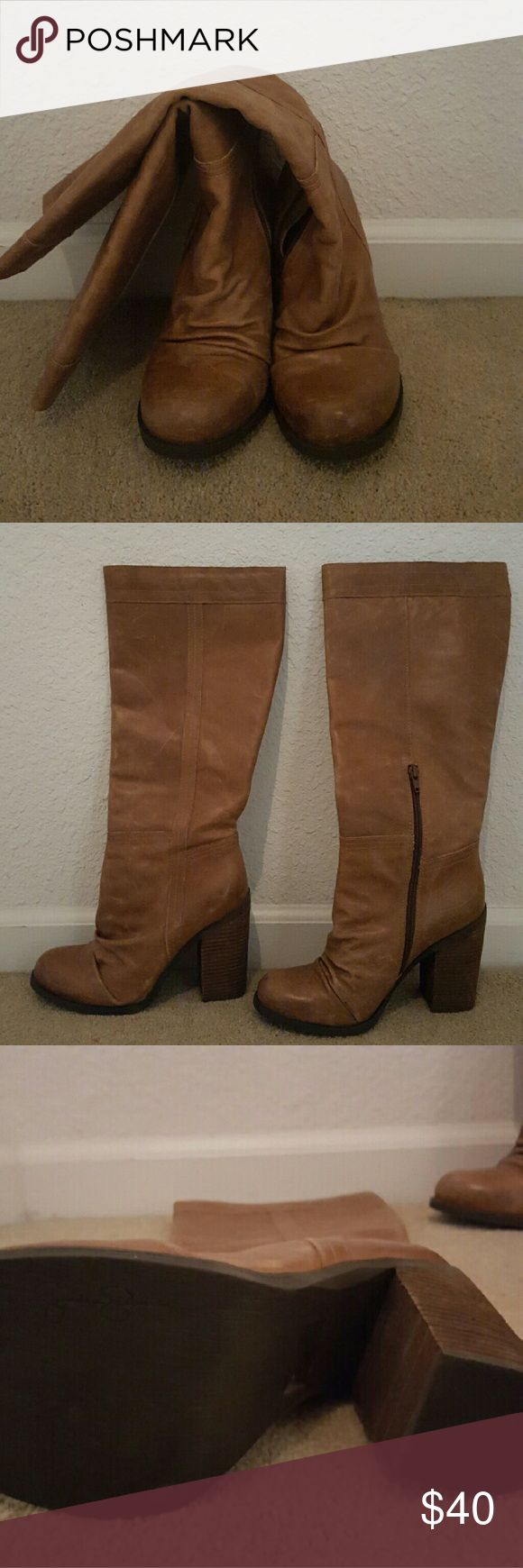 Jessica Simpson Boots Distressed leather boots, Jessica Simpson Shoes Heeled Boots