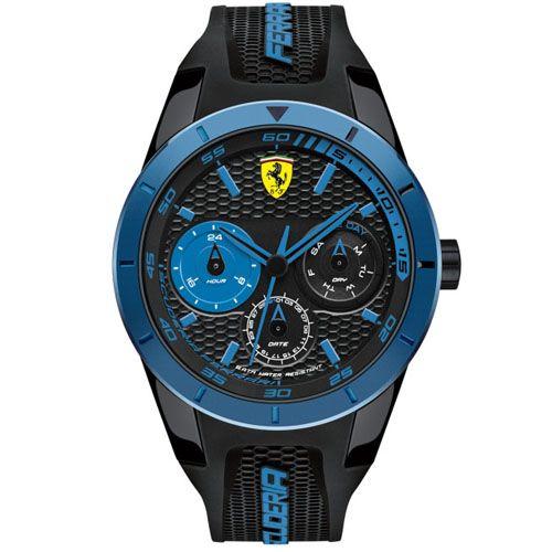 8e4f951c0fc Relógio Scuderia Ferrari Masculino Borracha Preta - 830256