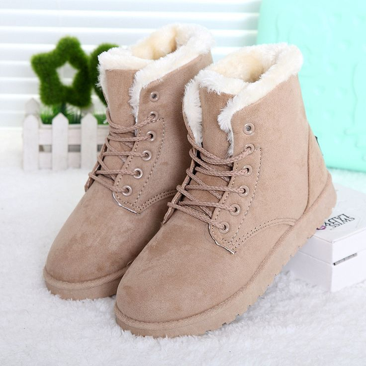 Snow boots 35-42 winter ankle boots plus size women snow shoes 2016