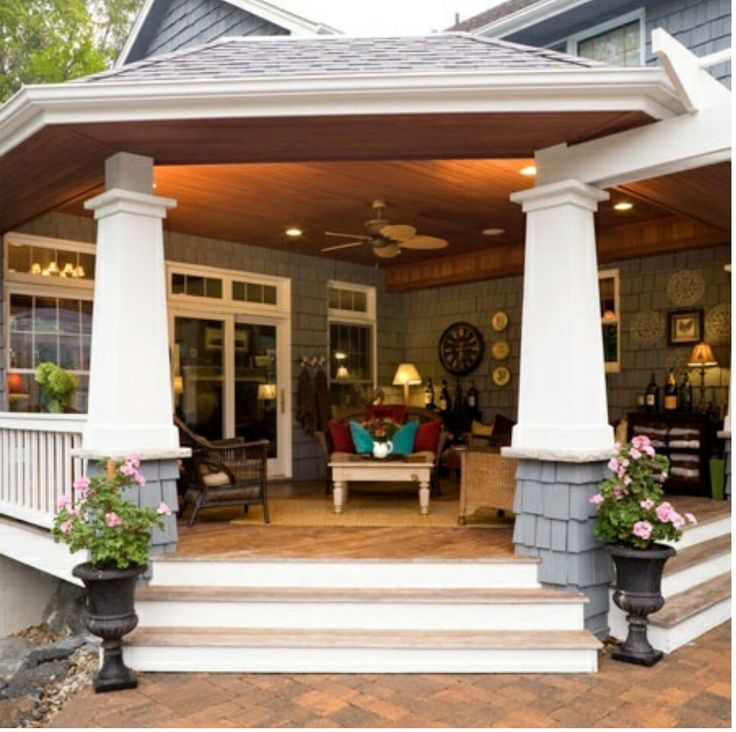 Back porch my future humble abode pinterest for Back patio porch designs