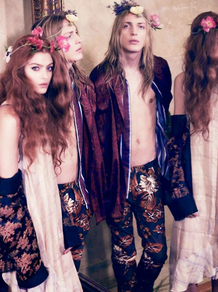 'Flower Power' - Elle Sweden 2015 March