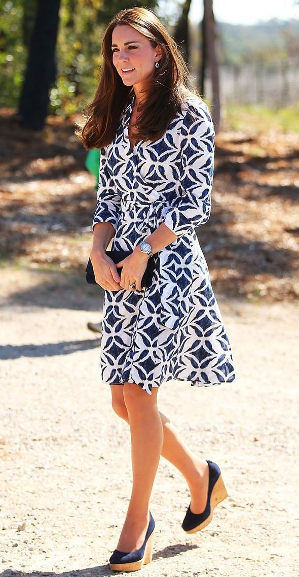 Dvf Pattern Wrap Dress Kate Middleton Kate showed that she s not