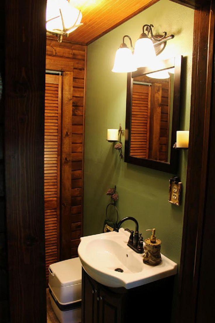 small cabin interior-like the color